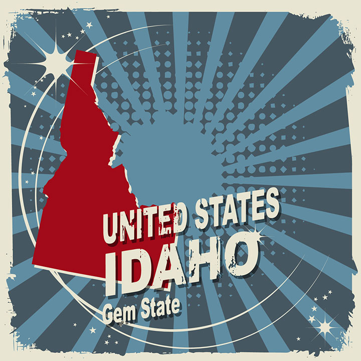 abstract idaho map